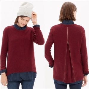 Madewell Zip Back Pullover Sweater